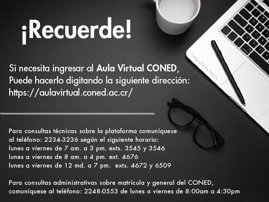 Recordatorio para usuarios CONED